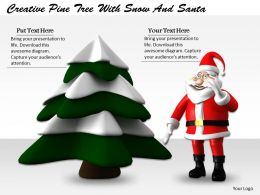 0514 Santa With Pine Tree Image Graphics For Powerpoint