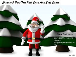 0514 Santa With Pine Trees Image Graphics For Powerpoint