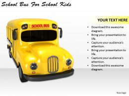 0514 School Bus For School Kids Image Graphics for PowerPoint