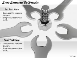 0514 Screw And Wrenches Tools Image Graphics For Powerpoint