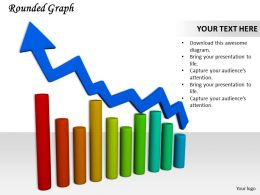 0514 See Business Bar Graph With Growth Arrow Image Graphics For Powerpoint