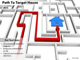 0514 See The Path Of House Making Image Graphics For Powerpoint