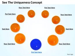0514 See The Uniqueness Concept Image Graphics For Powerpoint