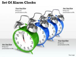 0514 Set Of Alarm Clocks Image Graphics For Powerpoint