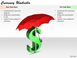 0514 Sign Of Dollar Under Umbrella Image Graphics For Powerpoint 1