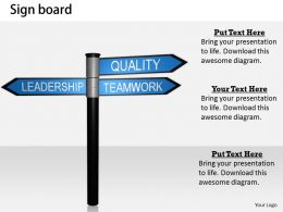 0514 Signboard Of Leadership Quality Teamwork Image Graphics For Powerpoint