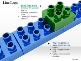 0514 Slanting Line Build From Lego Blocks Image Graphics For Powerpoint