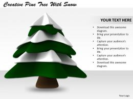 0514 Snow Falling On Tree Image Graphics For Powerpoint