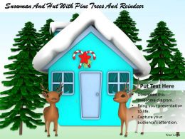 0514 Snow Hut In Winters With Reindeer Image Graphics For Powerpoint