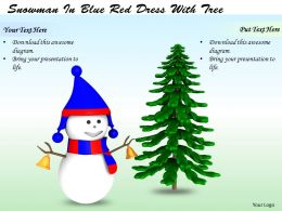 0514 Snowman And Christmas Tree Image Graphics For Powerpoint