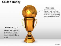 0514 Soccer Champions League Trophy Image Graphics For Powerpoint