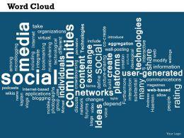 0514 Social Media Word Cloud Powerpoint Slide Template