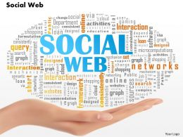 0514 Social Web Word Cloud Powerpoint Slide Template