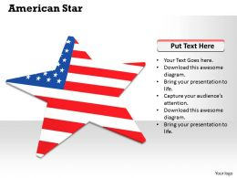 0514 star graphic with us flag Image Graphics for PowerPoint