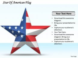 0514 Star Of American Flag Image Graphics for PowerPoint