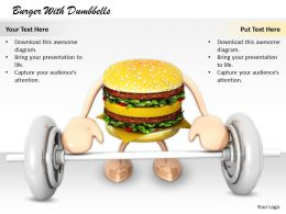 0514 Stay Healthy Eat Hamburger Image Graphics For Powerpoint