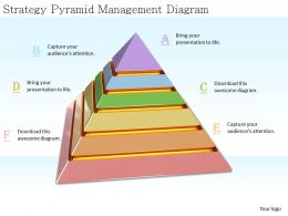 0514 Strategy Pyramid Management Diagram Image Graphics For Powerpoint