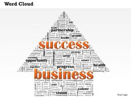 0514 Success In Business Word Cloud Powerpoint Slide Template