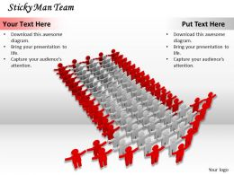 0514 Team With Unidirectional Approach Image Graphics For Powerpoint