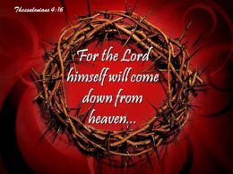 0514 Thessalonians 416 For The Lord Himself Powerpoint Church Sermon