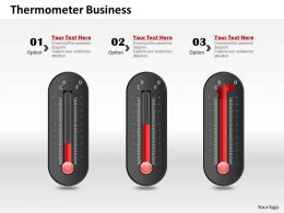 0514 Three Business Use Thermometer Graphic Powerpoint Slides