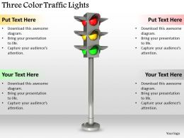 0514 Three Color Traffic Lights Image Graphics For Powerpoint