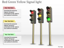 0514 Three Different Traffic Lights Image Graphics For Powerpoint