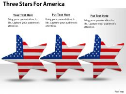 0514 three stars with american flag design Image Graphics for PowerPoint