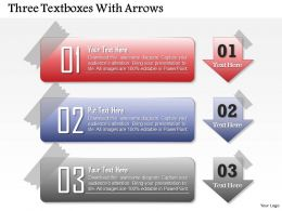 0514 Three Textboxes With Arrows Powerpoint Presentation