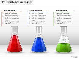 0514 Three Value Measuring Flasks For Science Medical Images For Powerpoint