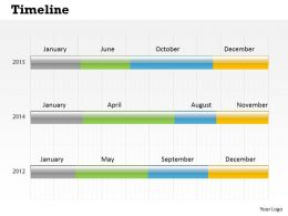 0514 Three Way Chart Data Driven Time Line Diagram Powerpoint Slides