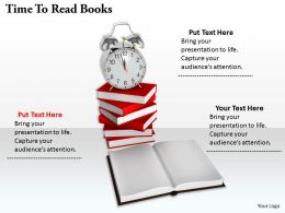 0514 Time To Read Books Image Graphics For Powerpoint