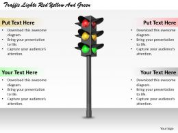 0514 Traffic Lights Red Yellow And Green Image Graphics For Powerpoint