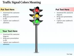 0514 Traffic Signal Colors Meaning Image Graphics For Powerpoint