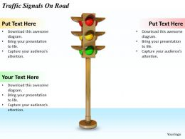 0514 Traffic Signals On Road Image Graphics For Powerpoint