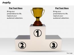 0514 Trophy For Wining Position Image Graphics For Powerpoint