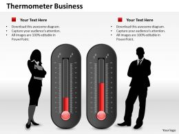 0514 Two Business Use Thermometer Graphic Powerpoint Slides