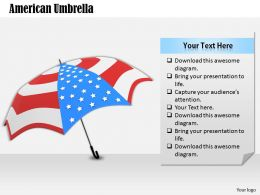 0514 umbrella with flag design Image Graphics for PowerPoint