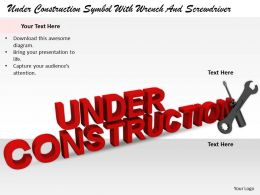 0514 Under Construction With Wrench And Screwdriver Image Graphics For Powerpoint