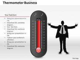 0514 Unique Design Thermometer Graphic Powerpoint Slides