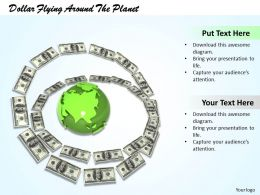 0514 Use Dollars For World Trading Image Graphics For Powerpoint