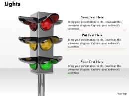 0514 Use Traffic Lights For Safety Image Graphics For Powerpoint