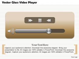 0514 Vector Glass Video Player Powerpoint Presentation