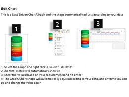 0514 Vertical Data Driven Bar Graph Powerpoint Slides