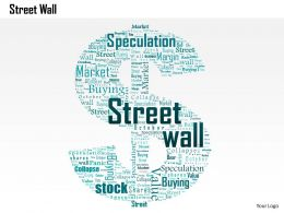 0514 wall street PowerPoint Slide Template