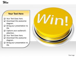 0514 Win Is Real Victory Image Graphics For Powerpoint