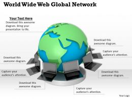 0514 World Wide Web Global Network Image Graphics For Powerpoint