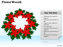 0514 Wreath Assortment Of Flowers Image Graphics For Powerpoint