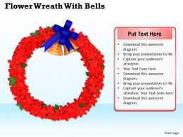 0514 Wreath Bells Christmas Ornaments Image Graphics For Powerpoint