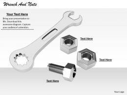 0514 Wrench And Nuts Devices Image Graphics For Powerpoint